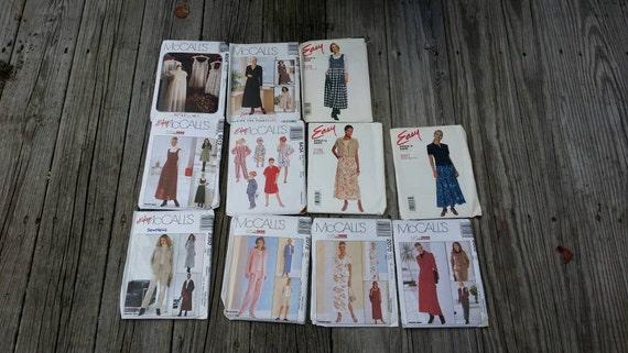 Set of Sewing Patterns, Craft Patterns, McCalls patterns, Sewing Supplies, Craft Supplies, Women's Clothing Patterns, 90's patterns