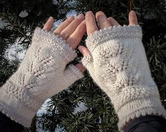 Rosemary's Fingerless Mittens Knitting Pattern