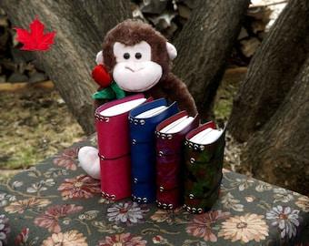 Leather Chunky Monkey 4 SIZES - A6 - Fieldnotes - Passport -Dollar Store Composition - Midori Travelers Notebook - Fauxdori - planner -diary
