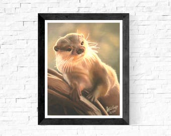 Otter Wall Art Prints/Otter Painting Prints/Cute Otter Art/Otter Art Prints/Woodland Nursery Wall Decor/Otter Art/Fine Art/Rustic/Nature