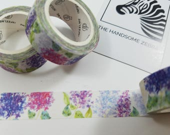Purple and Pink Floral Washi Tape