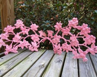 Vintage pink shabby chic wall flowers, Nursery Flowers