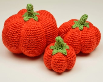 Pumpkins - 3 Sizes - PDF Crochet Pattern - Instant Download