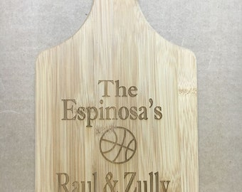 Personalized Cutting Board With Handle - Engraved - Wedding, Anniversary, Housewarming Gift