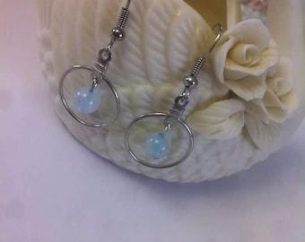 Dyed Quartz hoop earrings