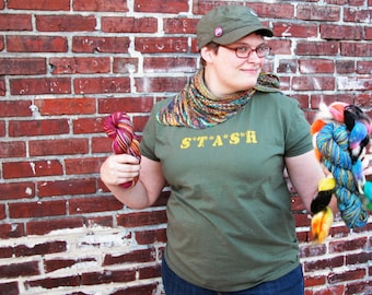 S*T*A*S*H Stash Knitting T-Shirt Sizes: Small - S - XXXL - 3X - Gift for Knitters