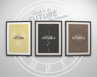 Back to the Future ~ Minimalist Poster, Gifts for Him, Minimal Movie Posters, Art Print, Wall Art, Wall Decor