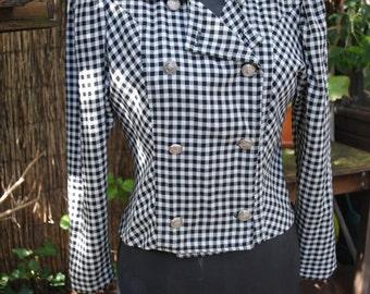 Jacket Plaid black and white 1950