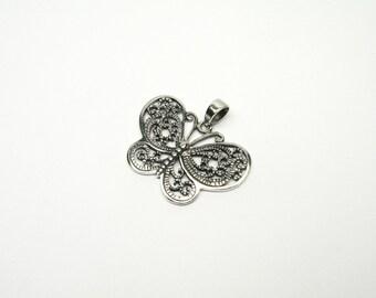 Butterfly Butterfly Jewelry Pendant silver 925