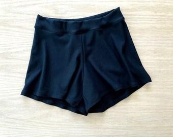 High-waist tap pants, organic cotton shorts, custom handmade