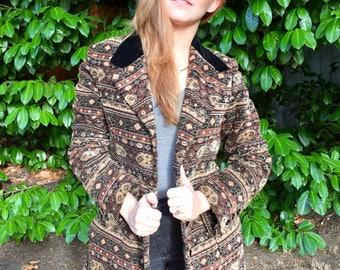 80s Anne Klein Tapestry Coat