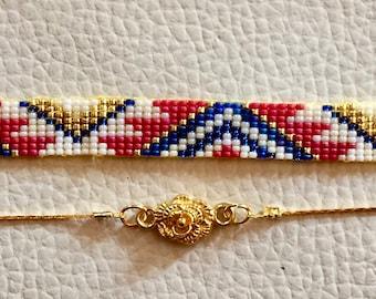 woven bracelet duo set