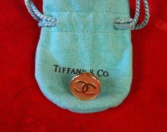 14 k (.585) Yellow Gold Tiffany & Co Tie Tack / Lapel Pin 2.3 gm Gold Front Pin Without Back.