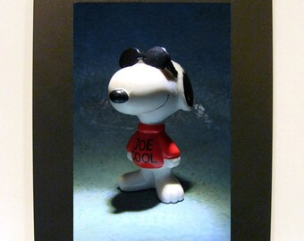 """Framed Joe Cool Toy Photograph 5x7"""" Snoopy from Peanuts"""