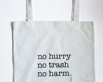 Handmade Upcyling Shopping bag/tote bag/Shopper/white saying/slogan/recycled/sustainable/bag for shopping