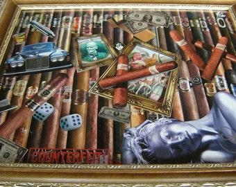 Cigar Collage 1 (original artwork by the Foxman)