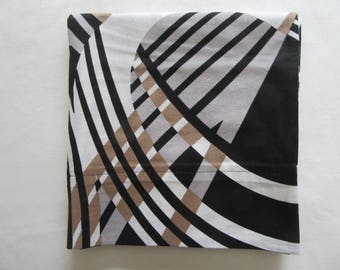 Black white and gold pillow cases