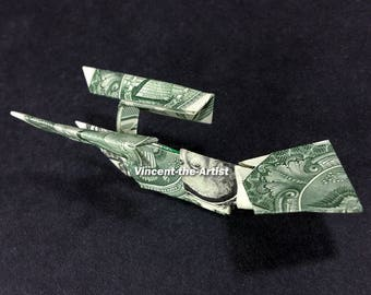 STAR TREK ENTERPRISE Money Origami Space Ship - Dollar Bill Art