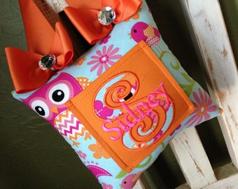 Cutie Owl with Bows Tooth Fairy Pillow