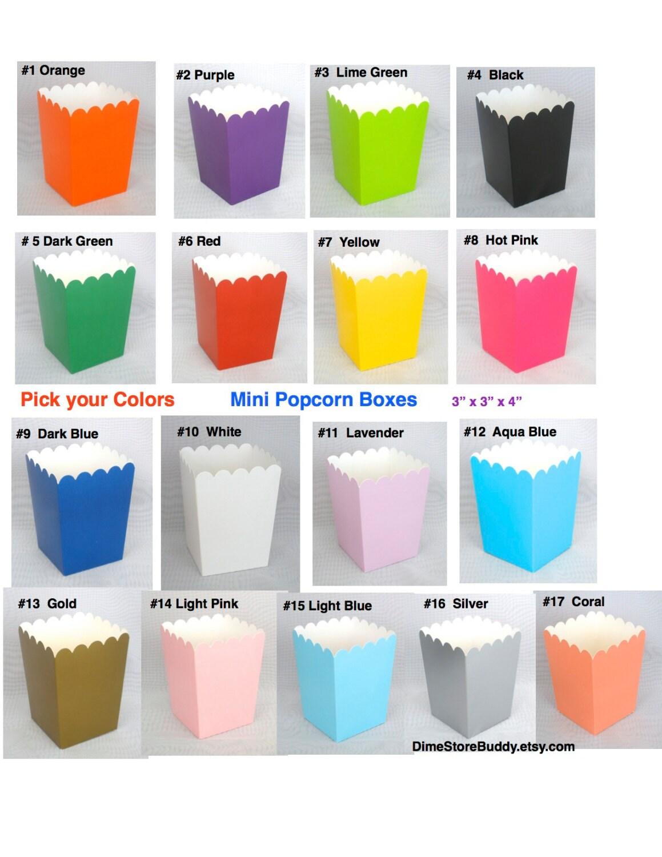 Popcorn Boxes Treat Boxes 12 ct. Favor Boxes Candy Boxes Mini ...