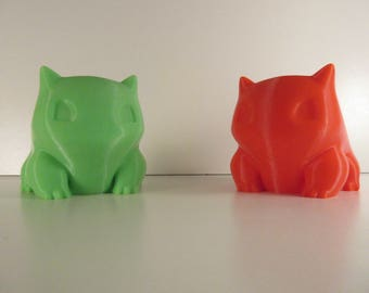 Bulbasaur 3d printed planter in colorful PLA for small plant