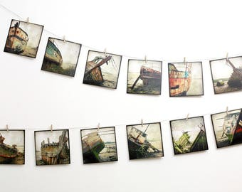 Set of 12 art postcard - Boatwreck Bateau 01