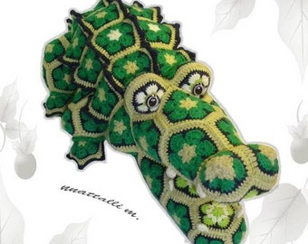 African flower Cro Kid-Dill pattern  - PDF file