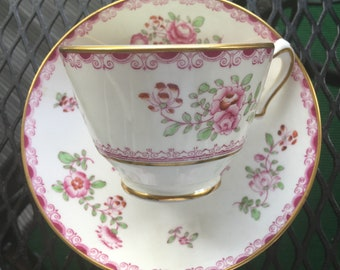Staffordshire Bone China Cup and Saucer