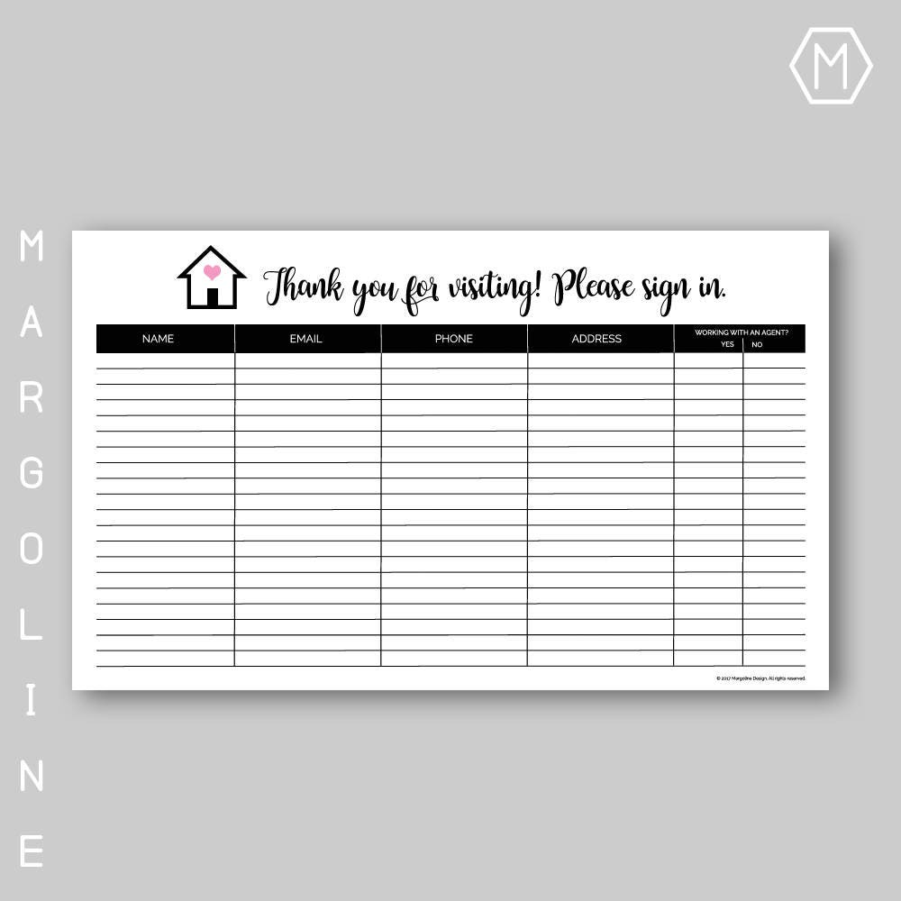 real estate listing sheet template - real estate open house sign in sheet real estate open house
