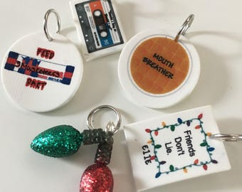 Stranger Things Stitch Marker Set