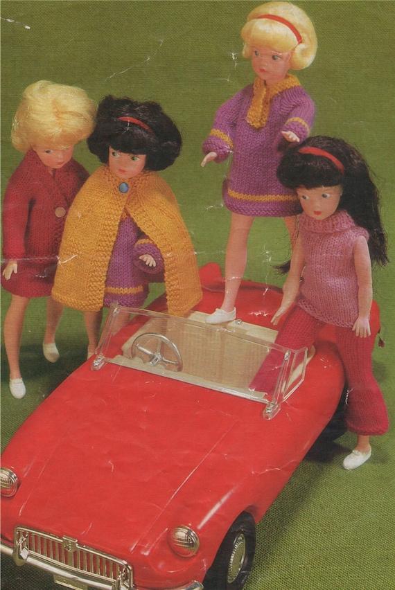 Dolls Clothes PDF Knitting Pattern : Barbie . Sindy . 11 12
