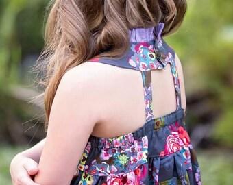 Sewing Patterns for girls, Meraki Dress PDF pattern, Sewing Pattern, Baby Girl Dress Pattern, Girls Dress Tutorial, Ruffle Top Dress Pattern