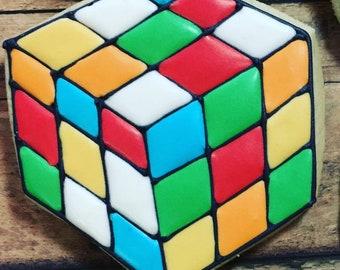 Rubik's Cube Cookies, Retro 80's Cookies, Party Favors