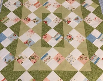 Christmas In June Shabby Chic Lap-Baby Wuilt Top 24x33