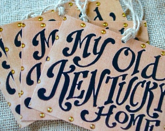 My Old Kentucky Home Gift Tags - present topper  -