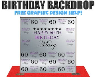 Birthday backdrop Custom event Step and Repeat Backdrop, Birthday photo backdrop, Sweet 16 banner Party, Red Carpet, Photography Backdrop,