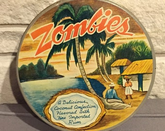Vintage Zombies Candy Tin