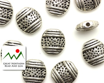 Pewter Beads,Pewter Findings,12MM Oval,12 Pieces#:FIN035737
