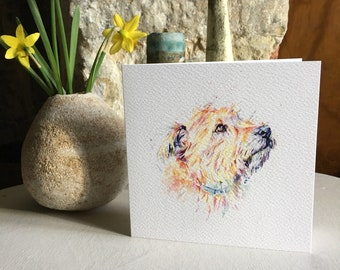 Dog Greeting Card Print From Original Watercolour Norfolk Terrier Card Happy Birthday Dog Card Blank Inside Cards