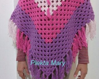 Handmade crochet poncho - child poncho - accessories child - crochet child - crochet clothes - Children clothes - girls poncho, #etsy