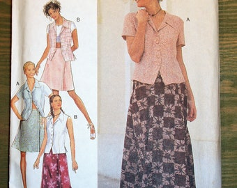 Style Blouse and Skirt Pattern #2642 - Size 8-18 - UNCUT Pattern - printed 1995