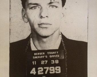 Frank Sinatra Mug Shot poster 24 x 36