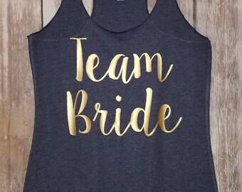 Team Bride tank - Bride tank - Bachelorette party tank - Bridal party tank - Racerback Tank top Shirt - Workout tank