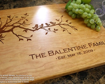 Personalized Engraved Cutting Board- Wedding Gift, Anniversary Gift, Housewarming Gift, Birthday Gift, Bridal Shower, Family Gift. 401