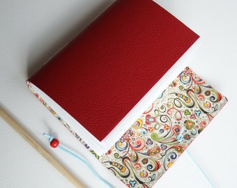 red Leather Journal Red, Blank Book, Leather notebook wrap journal, Handmade Journal, Leather Notebook, Memory book, Gratitude Journal