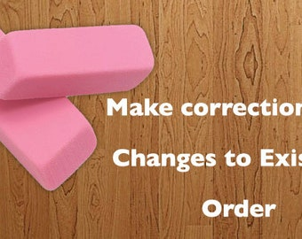 Corrections or Changes