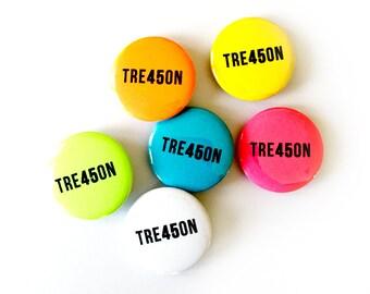 """TRE45ON 1"""" Pin - Treason - Traitor - Russia - Cult 45 - Resist - Vote - The Resistance - Fuck Trump - Impeach - Pinback - Button - Badge"""