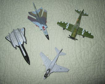 Total of Four 2 Matchbox Fighter Jets and 2 Maisto Planes One Is A Fighter Jet And The Other Is A Rescue Plane