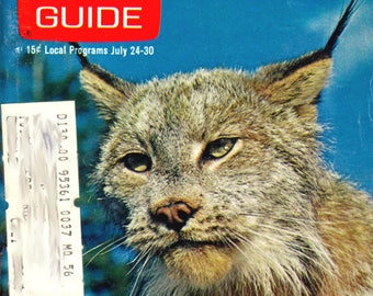 TV Guide, #956, 1971, Lefty the Star of Disney's Ding-a-Ling Lynx, Ephemera, Television, TV, TV Programs, Vintage, Complete