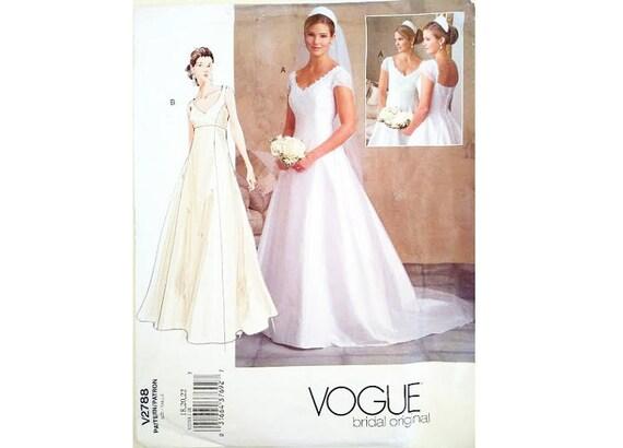 UNCUT Vogue Bridal Original 2788 Wedding Dress Bridal Gown with ...